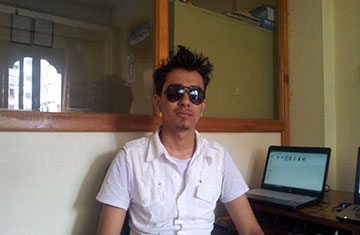 Pushpendra Khadka in Office