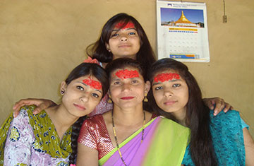 Pushpendra's Mother and Sisters